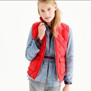 J. Crew {retail} Red Excursion Vest